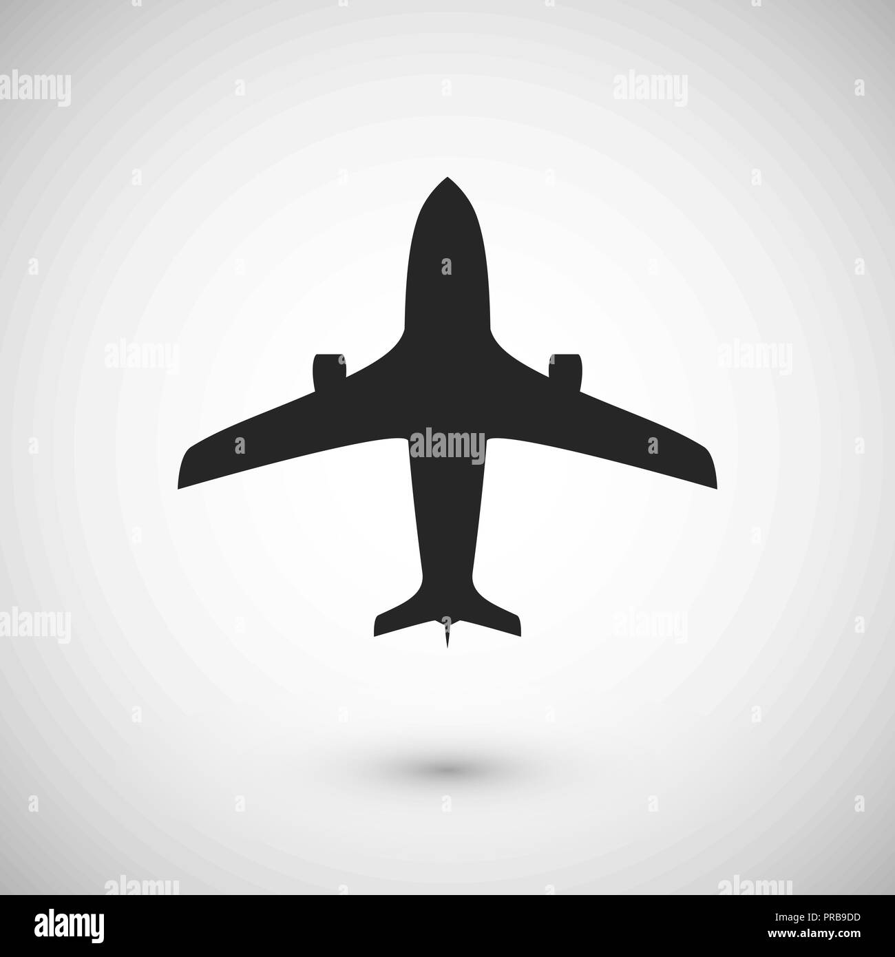 Plane icon. Jet silhouette template. Isolated vector illustration - Stock Vector