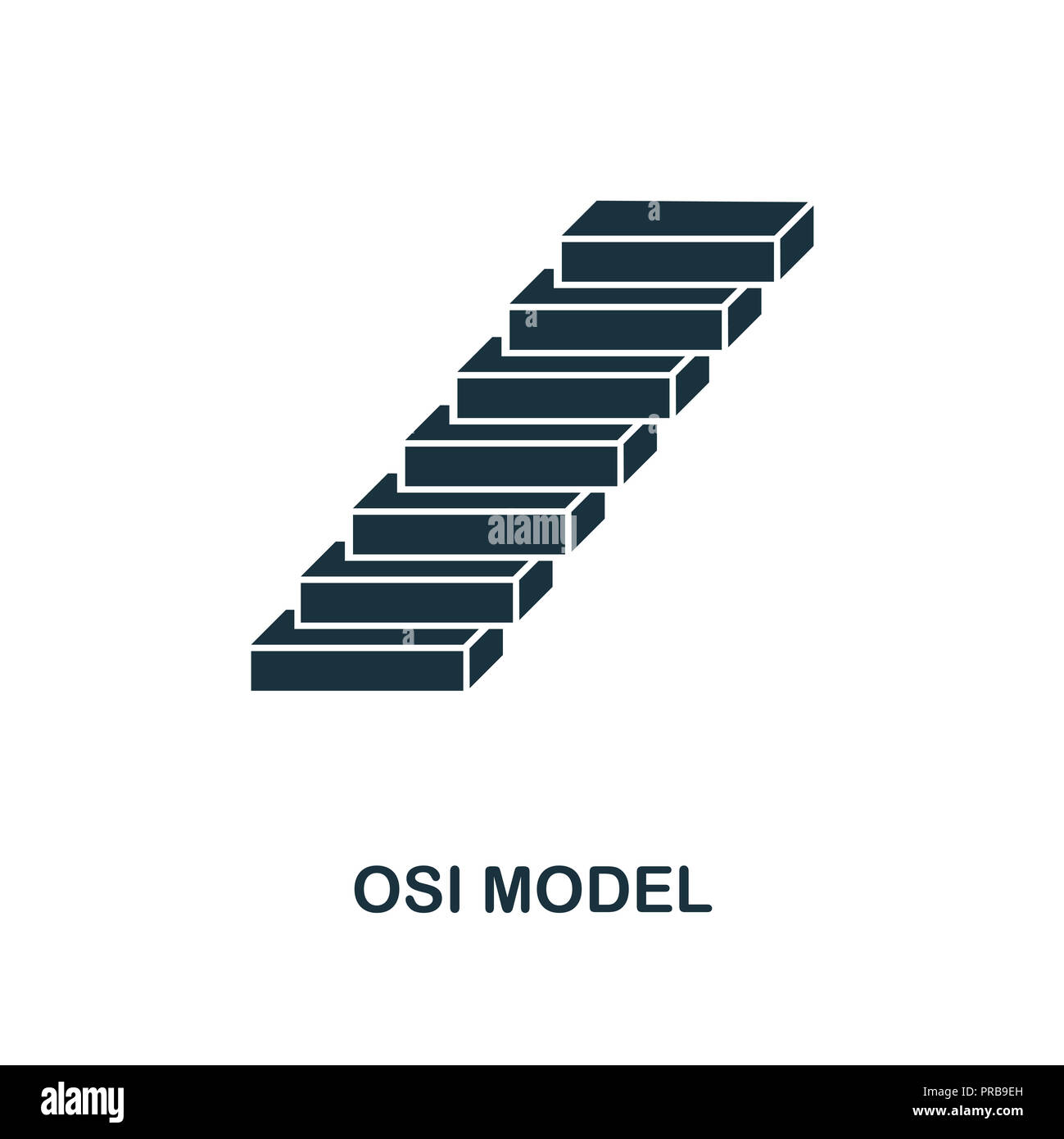 Osi Model icon. Simple style design from industry 4.0 collection. UX and UI. Pixel perfect premium osi model icon. For web design, apps and printing u - Stock Image