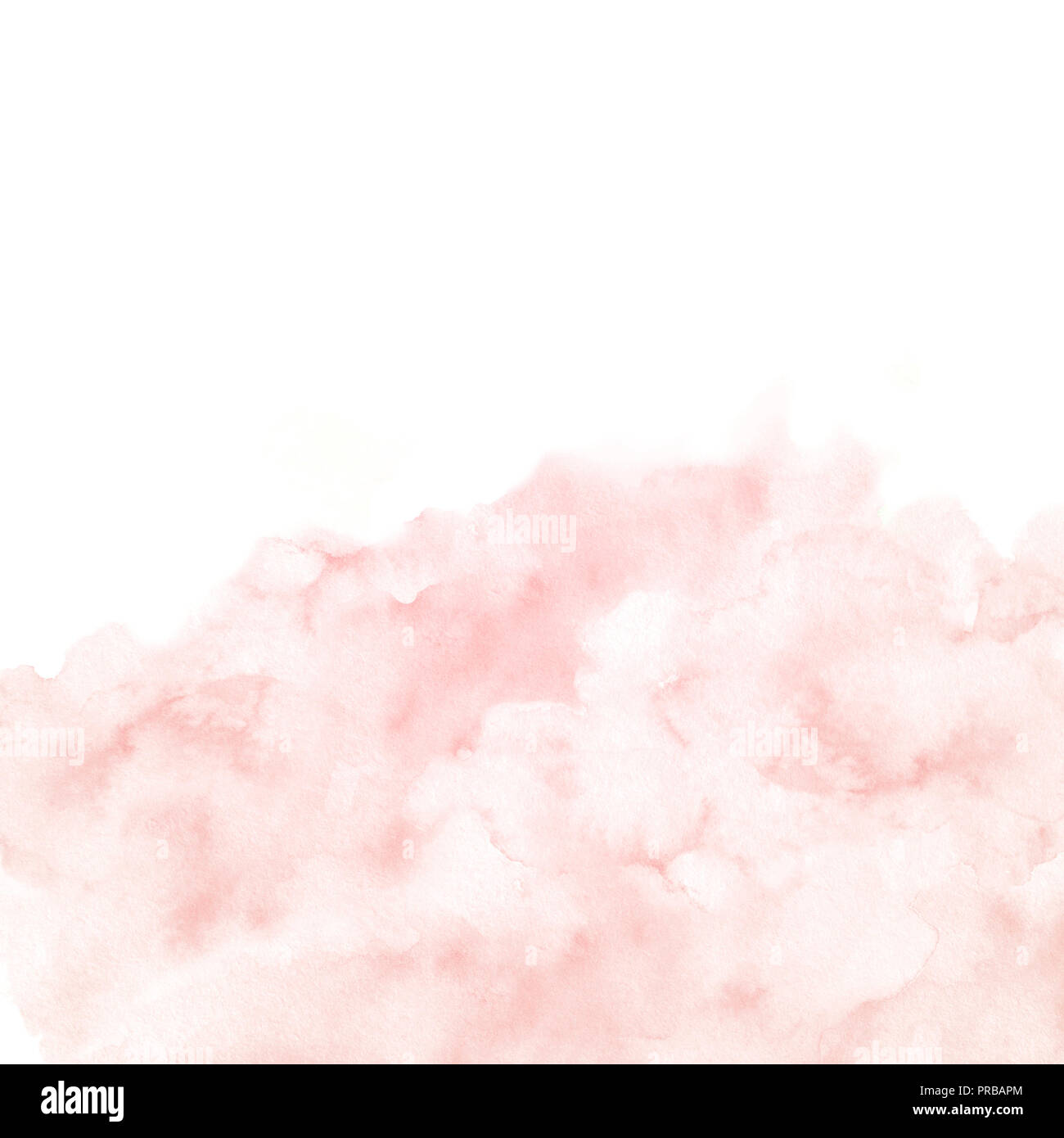 Watercolor Pink Border Texture Isolated On White Background Hand