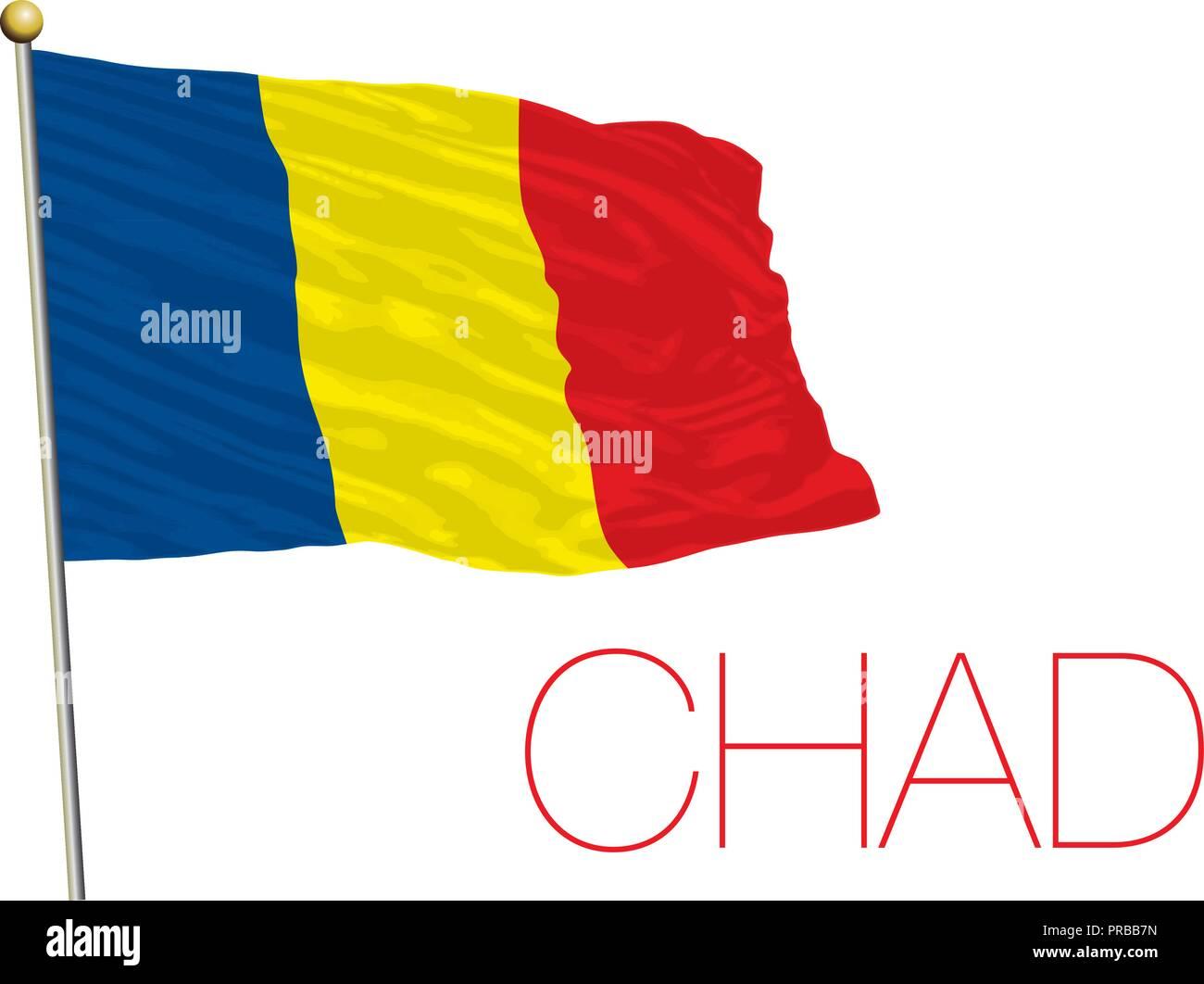 Chad flag, vector illustration - Stock Image