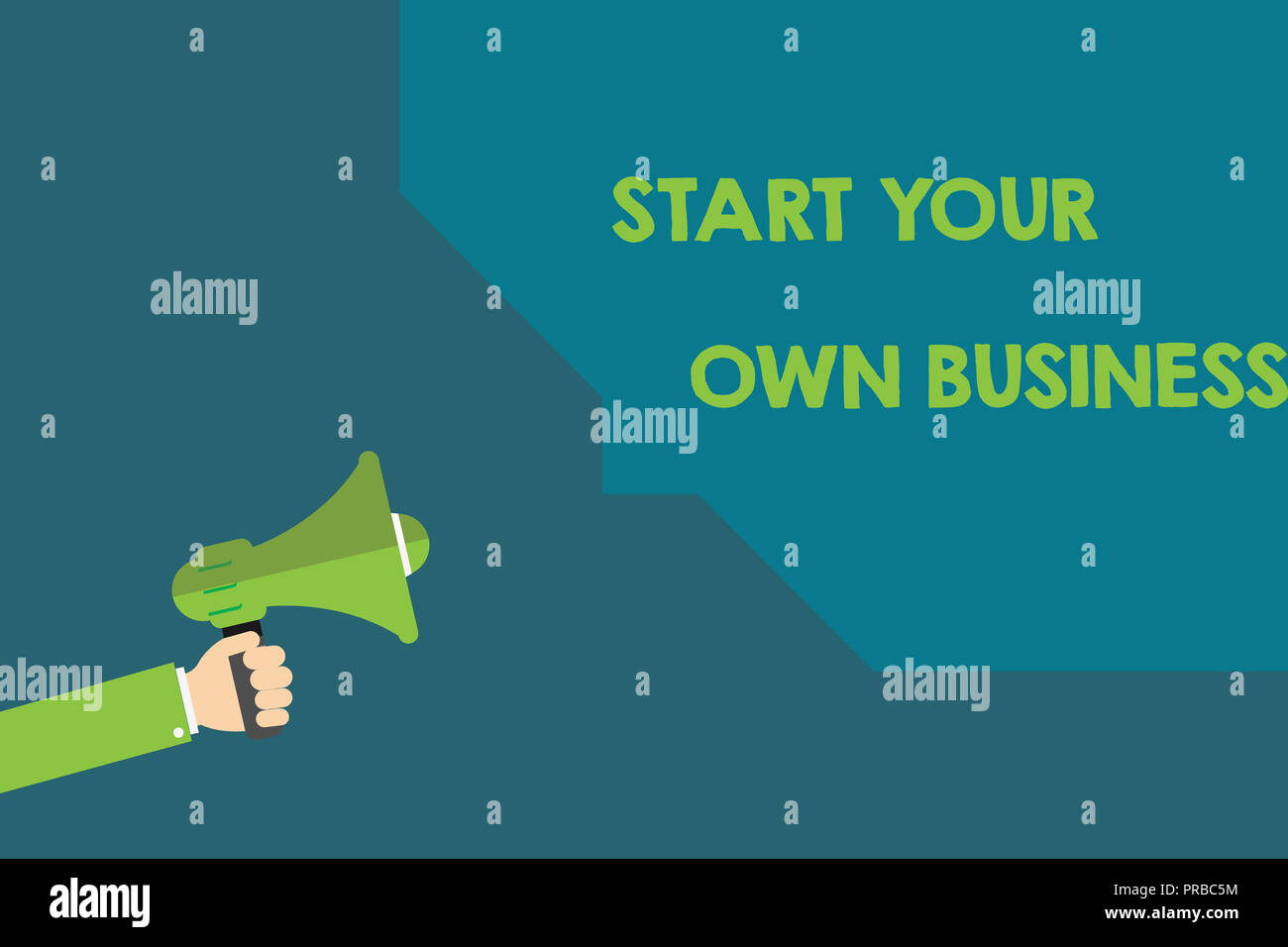 Handwriting text Start Your Own Business. Concept meaning Entrepreneurial Venture a Startup Enter into Trade. - Stock Image