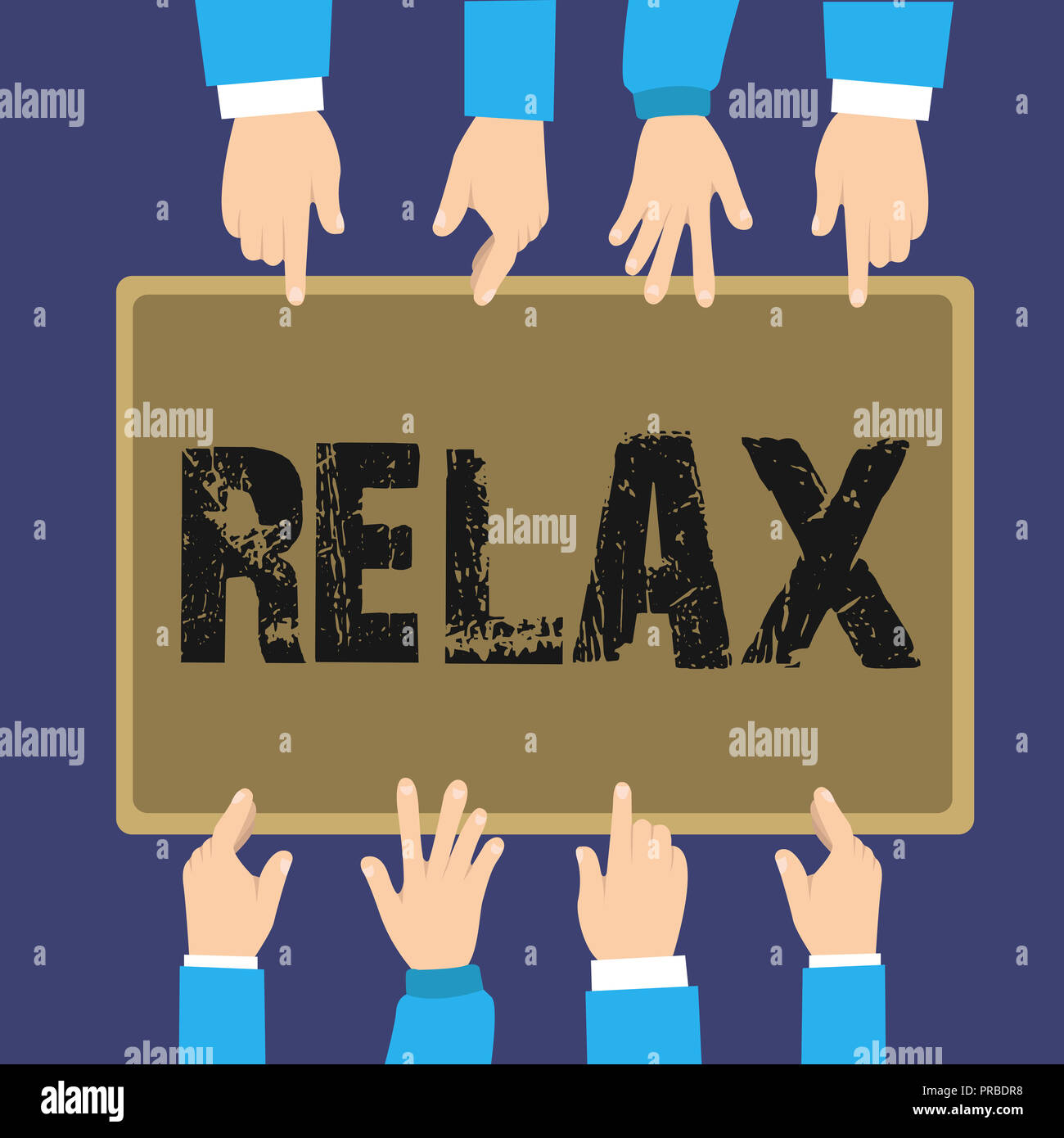 Handwriting text Relax. Concept meaning make or become less tense anxious calming down no restrictions. - Stock Image