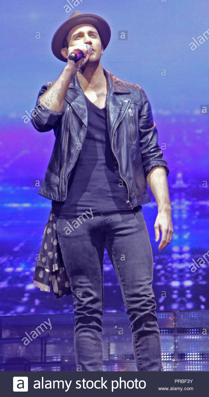 Jay James at X Factor Live 2015 on the first of three shows at manchester arena on friday 20 february 2015 - Stock Image