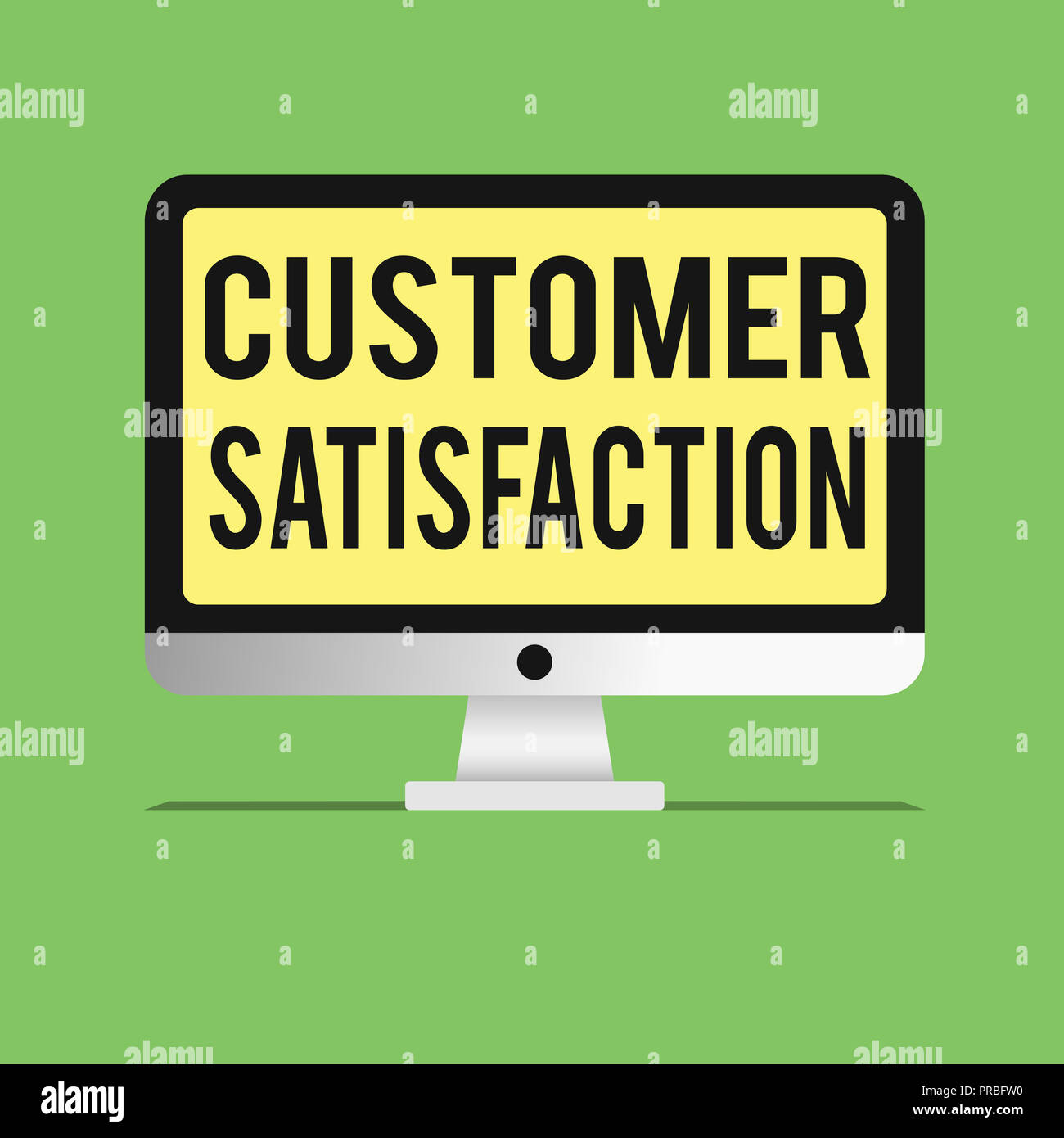 Word writing text Customer Satisfaction. Business concept for Exceed Consumer Expectation Satisfied over services. Stock Photo