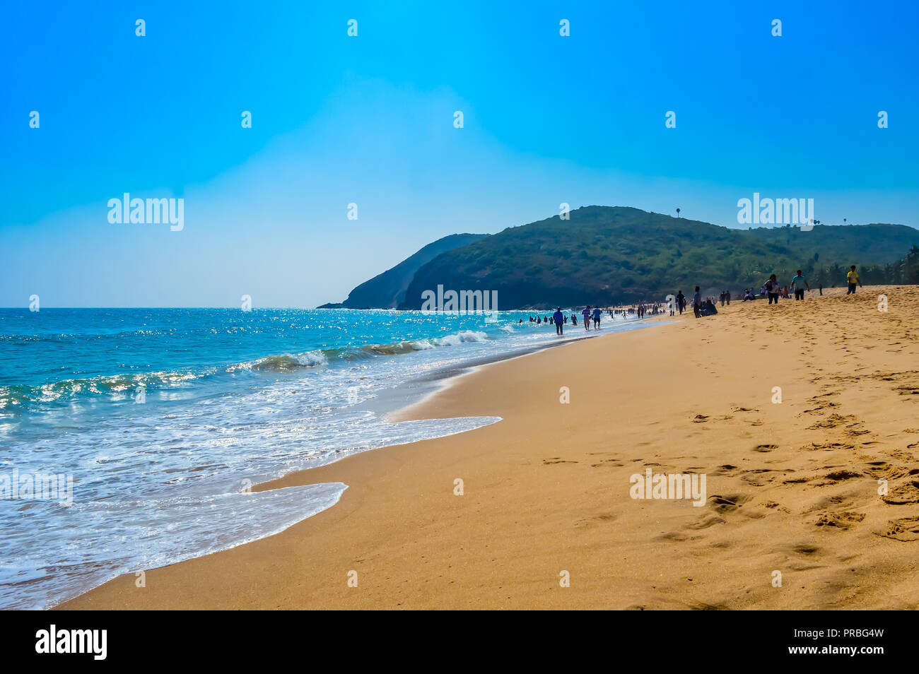 photograph of goa sea beach taken in christmas holiday during new year celebration in landscape style use for background screen saver e cards website