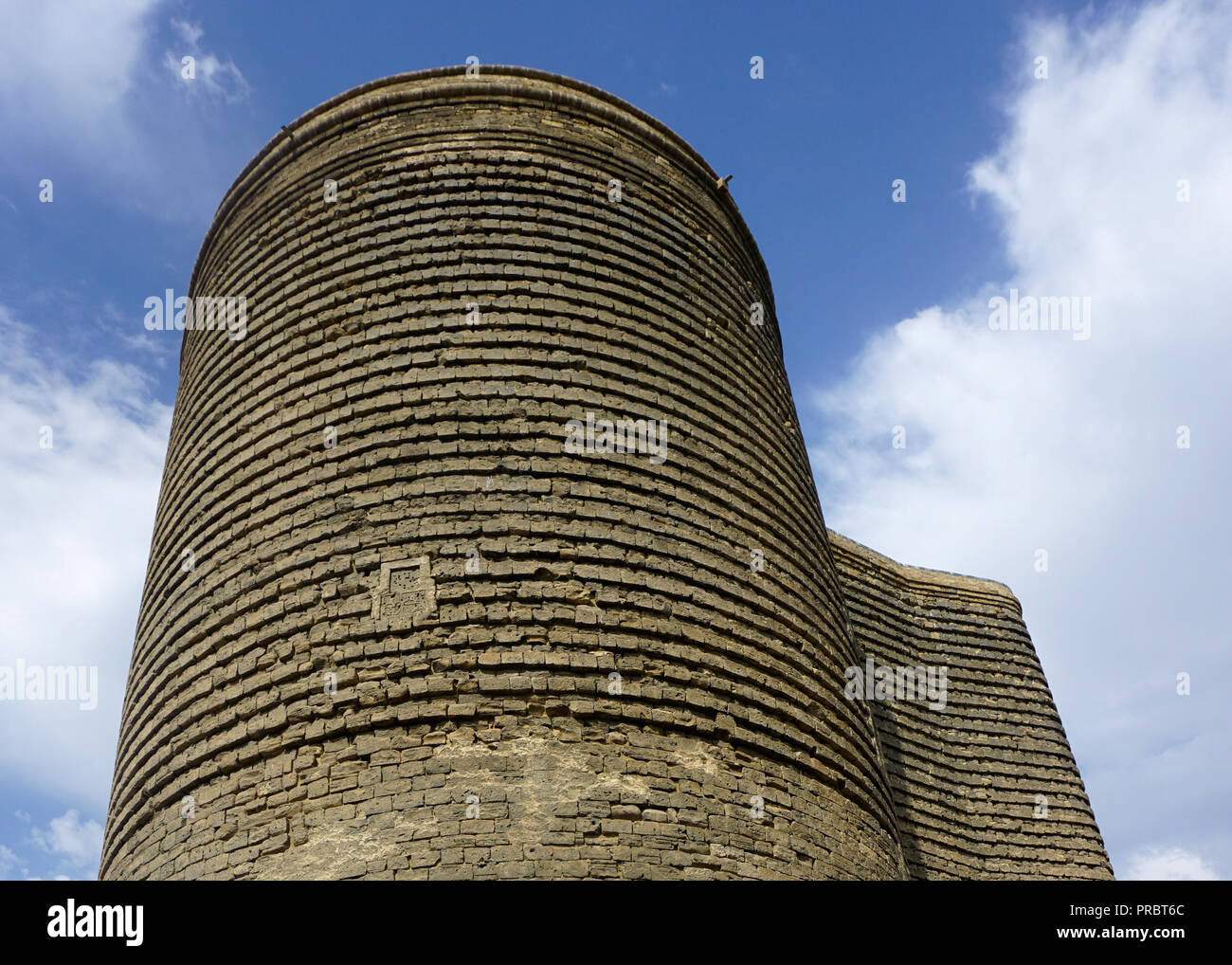 Baku Maiden Tower Sightseeing Spot in Summer Time. - Stock Image