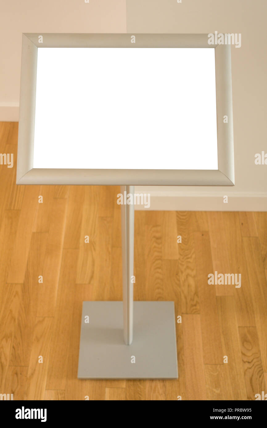Mock Up Floor Standing Menu Poster Display Holder Snap Frame