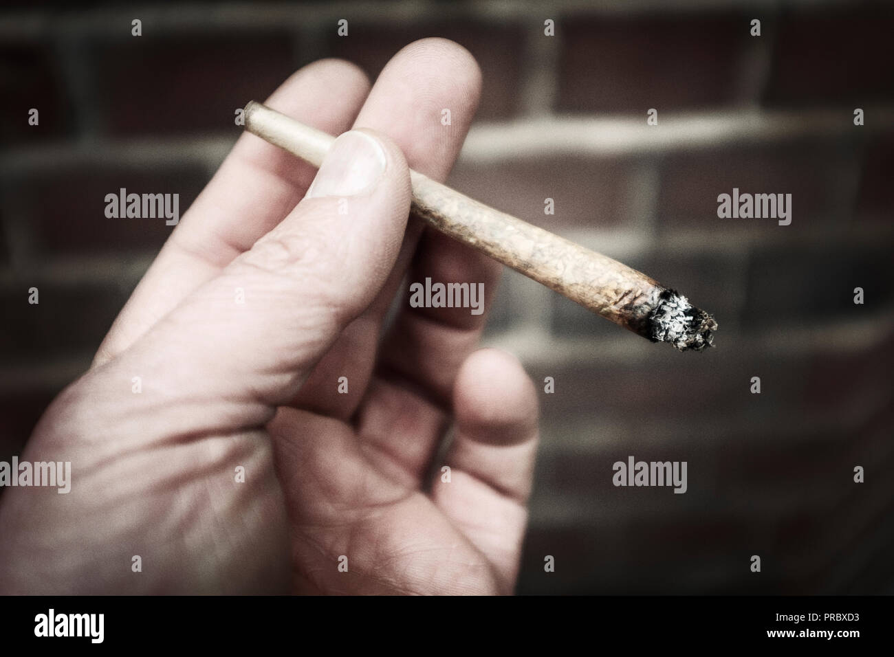 Cannabis joint-close-up Stock Photo