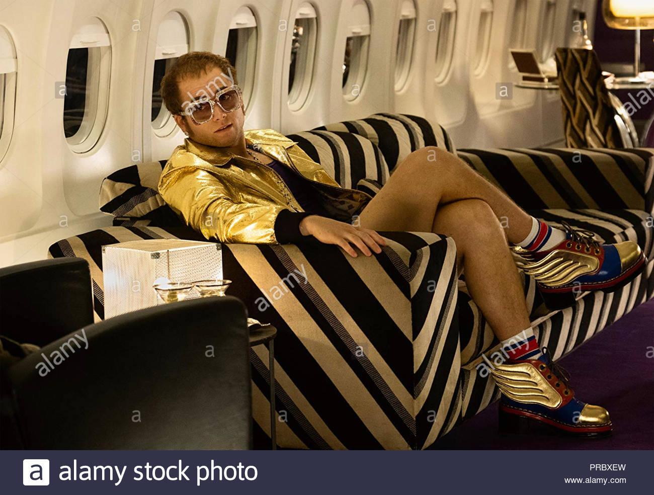 ROICKETMAN  2019 Paramount Pictures film with Taron Egerton as Elton John - Stock Image