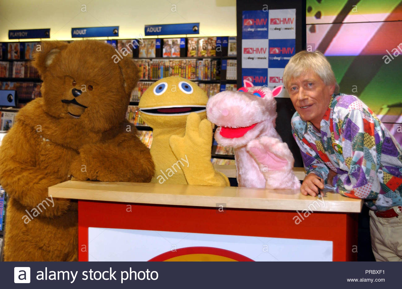PA file photo dated 22/10/01 of (left to right) Bungle, Zippy, George and Geoffrey Hayes. The actor and TV presenter has died at the age of 76. Stock Photo