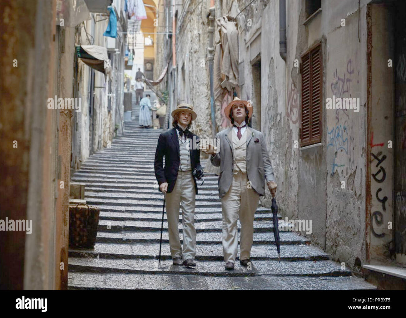 THE HAPPY PRINCE 2018 Sony Pictures Classic film with Rupert Everett as Oscar Wilde at right and Edwin Thomas as Robbie Ross - Stock Image