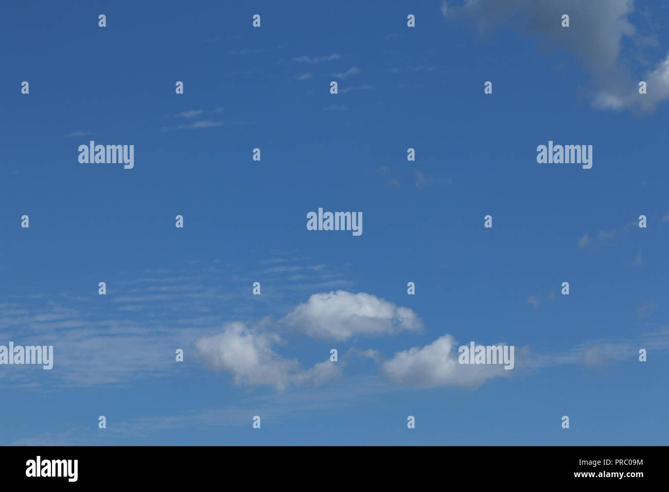 Clouds on the sky - floating clouds - Stock Image