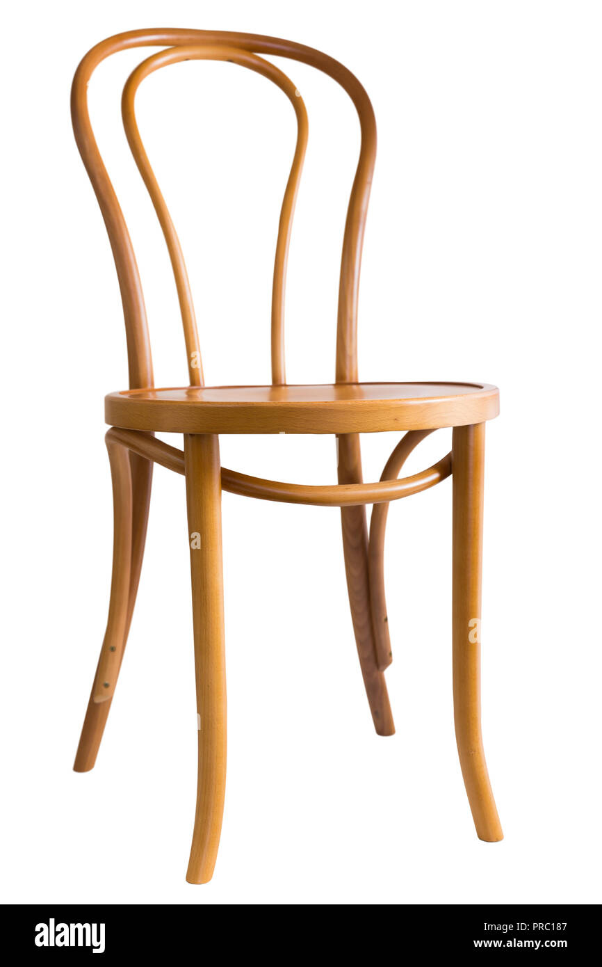 Bentwood Dining Chair Isolated On White Background   Stock Image