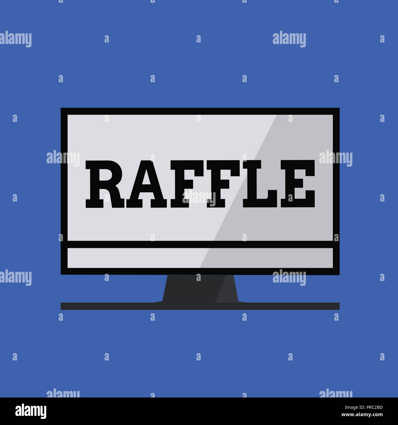 word writing text raffle business concept for means of raising