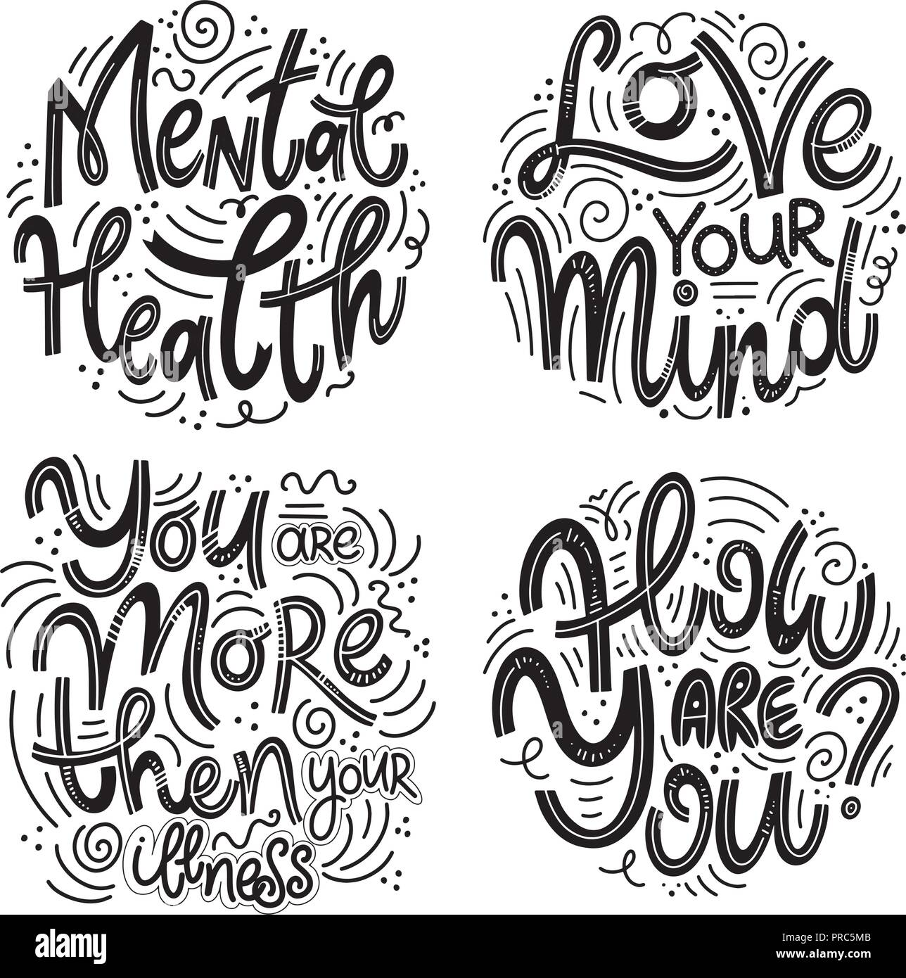 Motivational And Inspirational Quotes Sets For Mental Health Day
