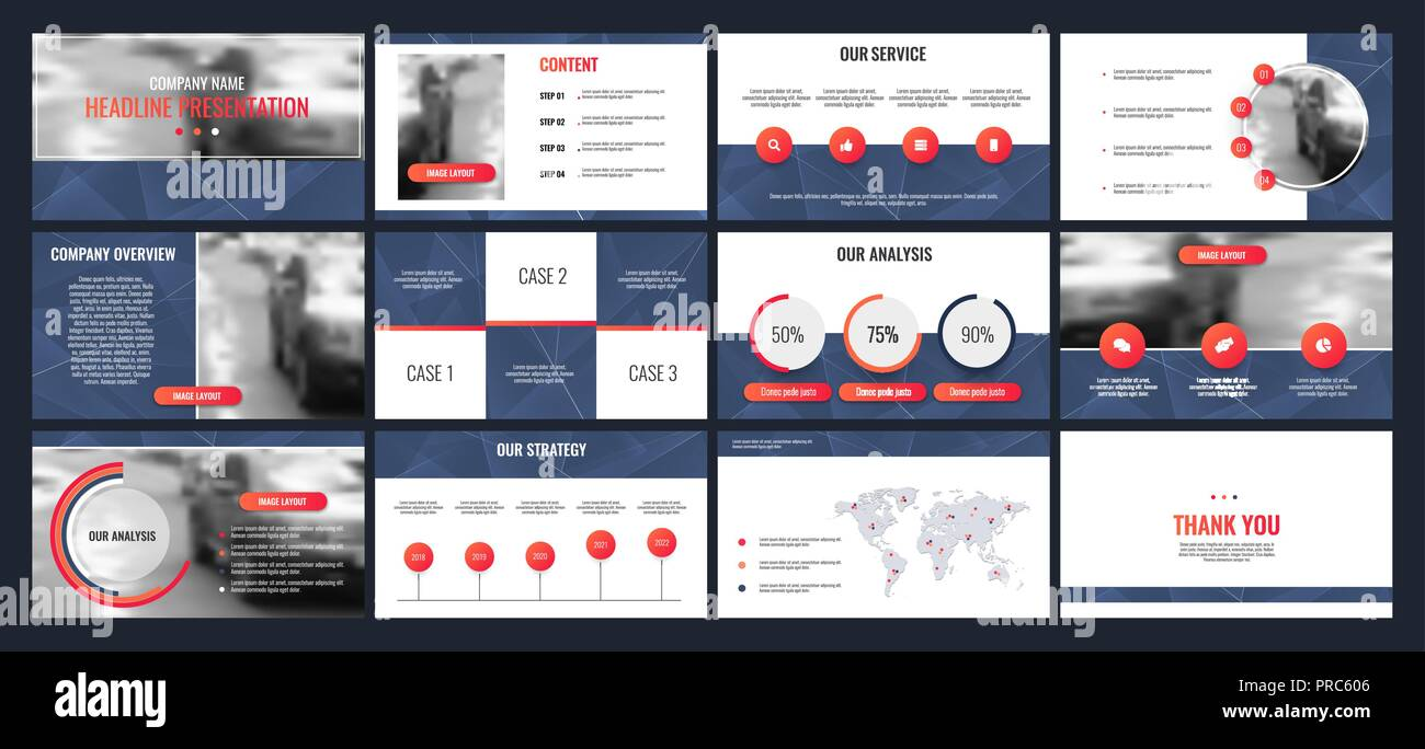 business presentation templates from infographic elements can be