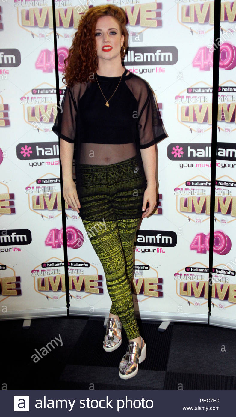 Jess Glynne at Hallam FM Summer Live at Sheffield Motorpoint arena on friday 18  July  2014 Stock Photo