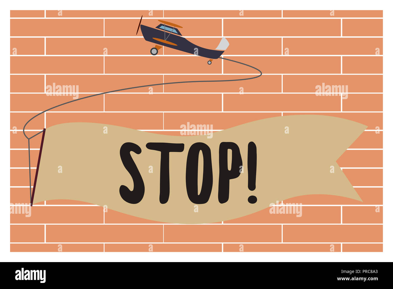 Handwriting text writing Stop. Concept meaning Come to an end Prevent Take action to an event from happening. Stock Photo