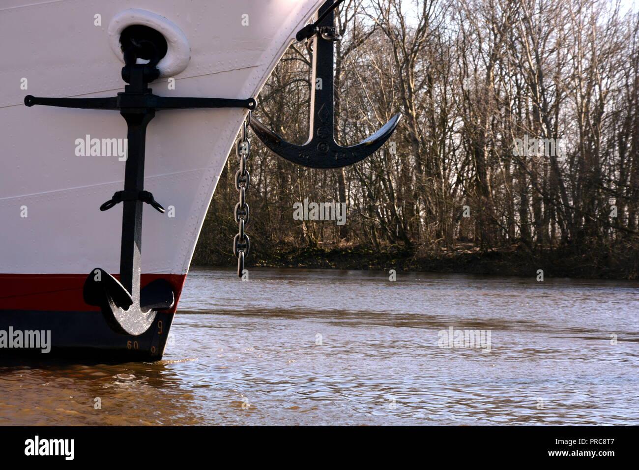 Segelboot  Hafen  Anker - Stock Image