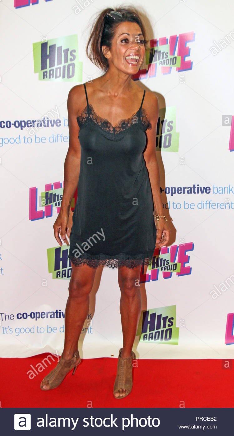 Jenny Powell at The Hits Live concert at  manchester arena on Saturday 14 July 2018 - Stock Image