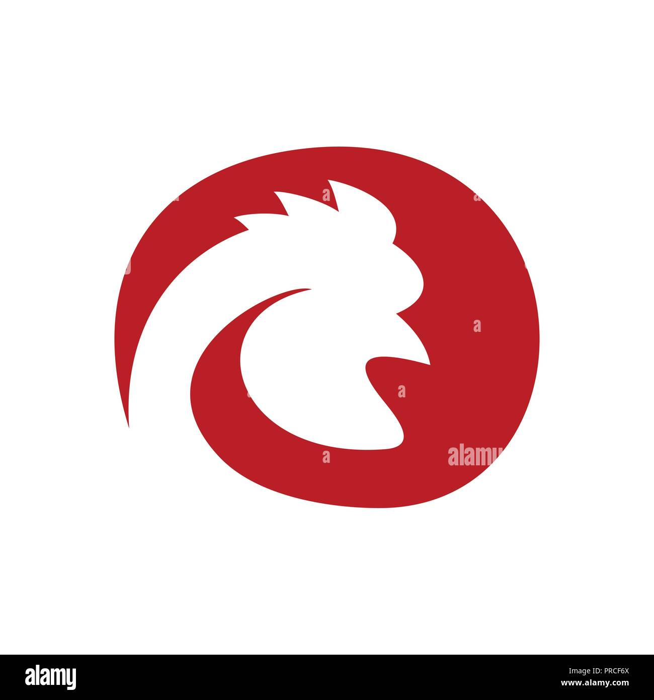 chicken rooster farm head profile vector symbol graphic logo design