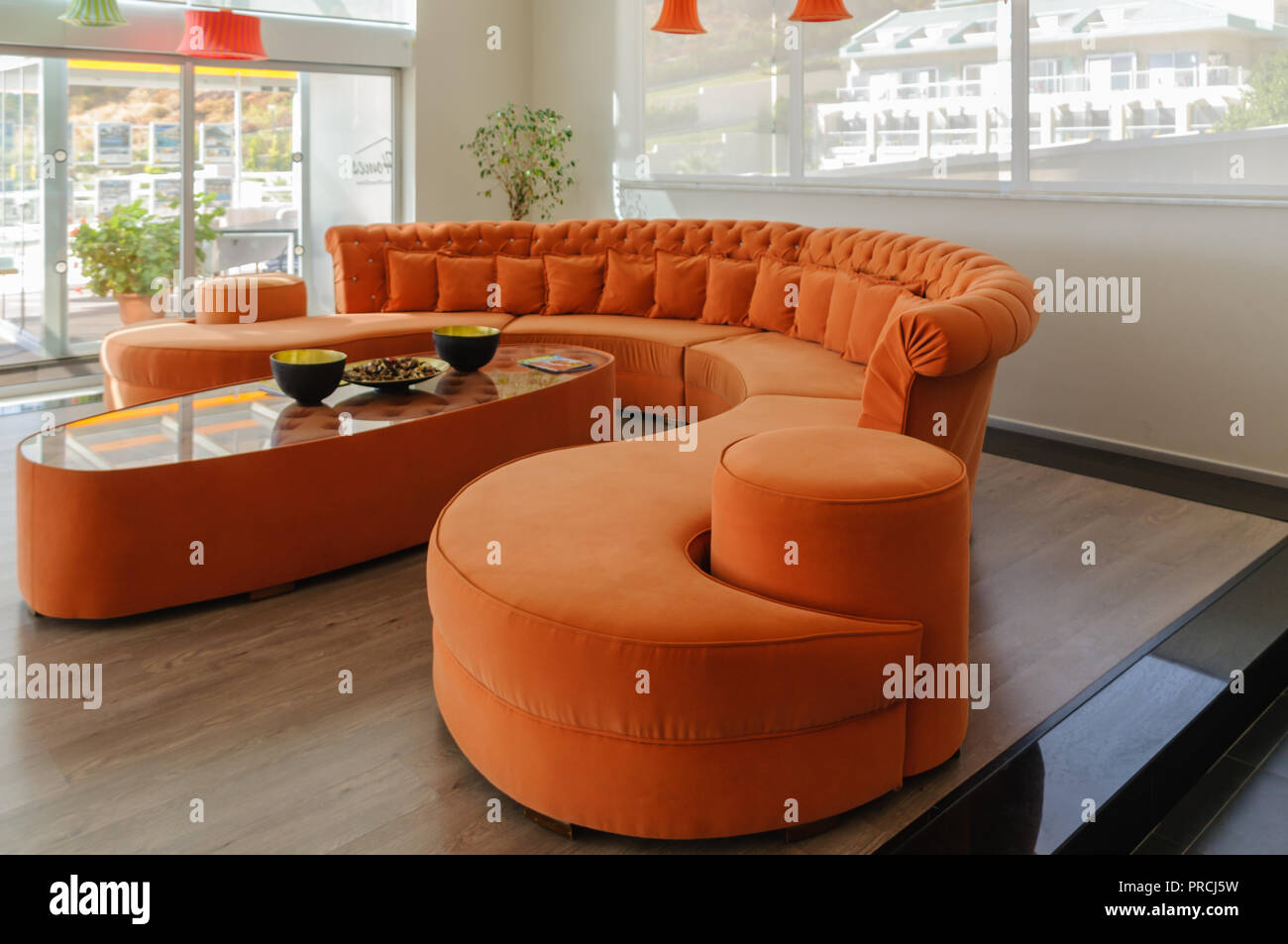 Curved Sofa Stock Photos & Curved Sofa Stock Images - Alamy