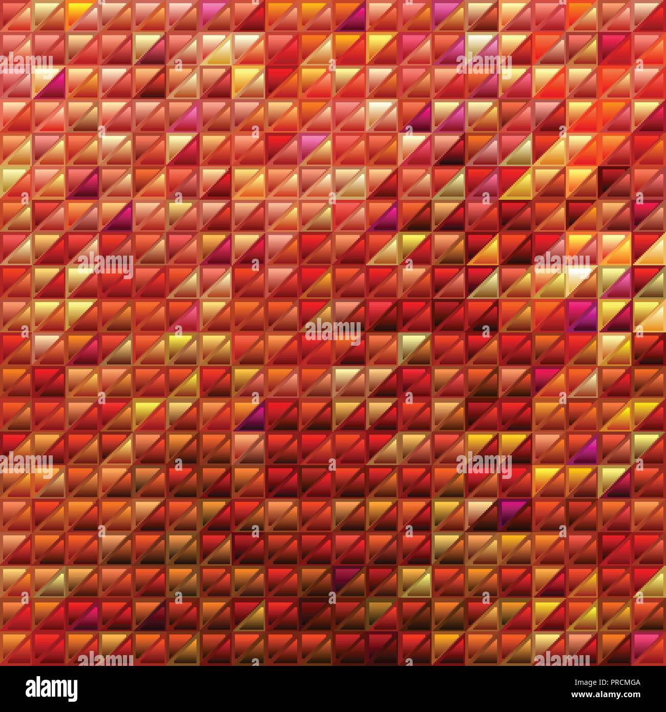 Abstract Vector Stained Glass Triangle Mosaic Background