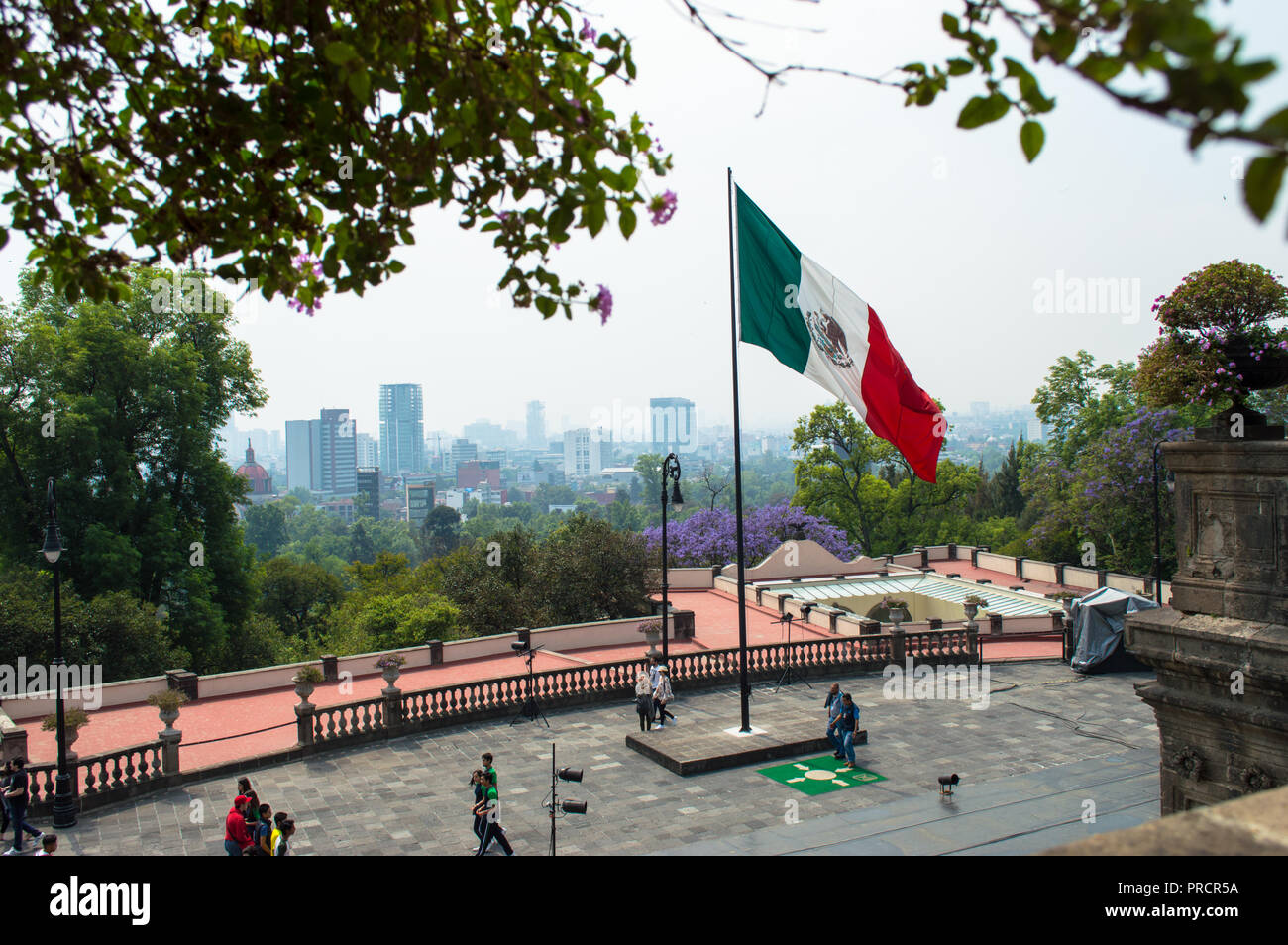 Mexico City view from the top of the Chapultepec castle. Mexico City. - Stock Image