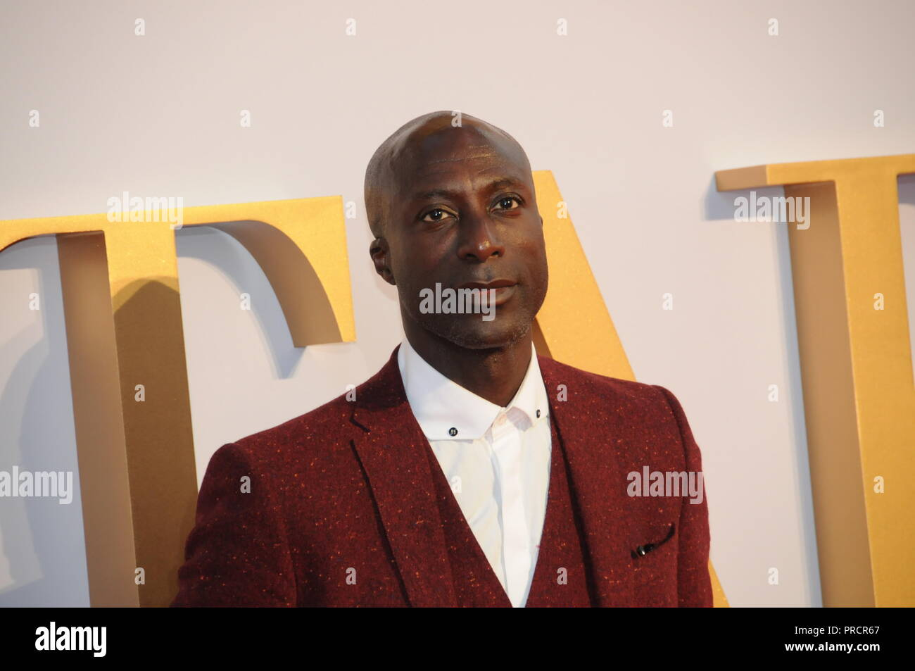 Celebrities on the red carpet, of the London film premiere, of A Star is Born. - Stock Image