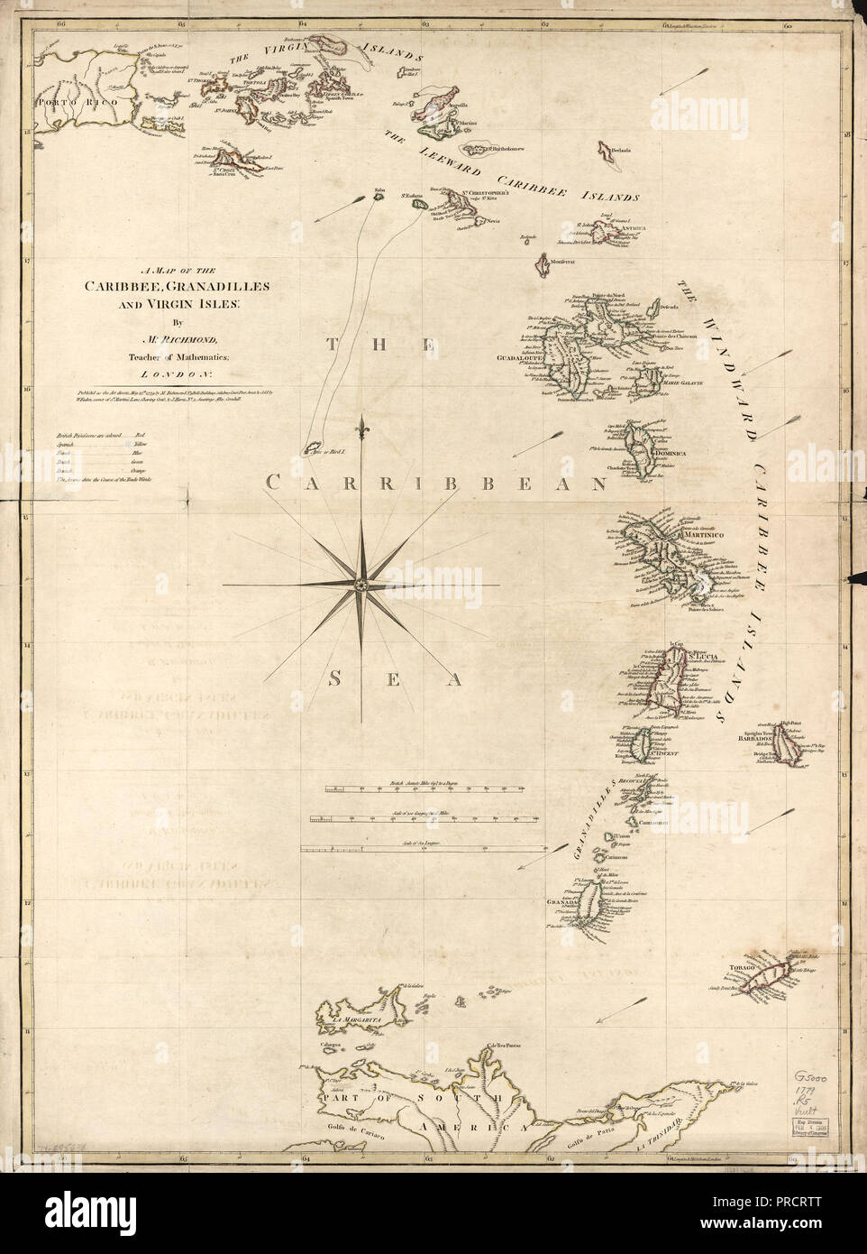 Caribbean Islands Map on
