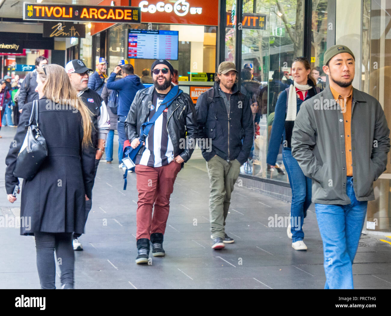 2018 AFL Grand Final Parade, Melbourne Victoria Australia. - Stock Image