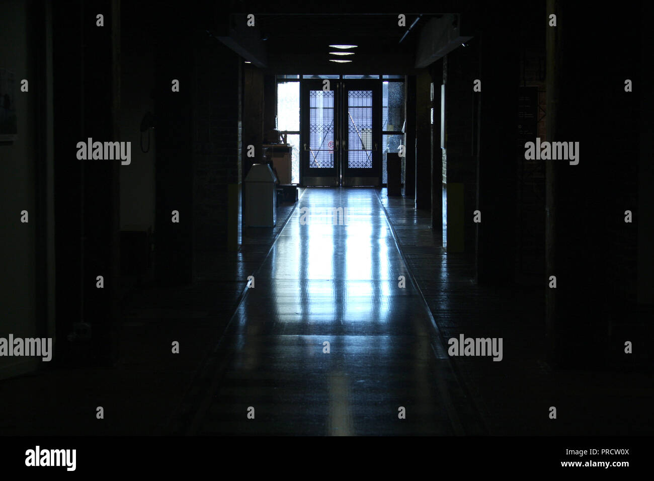 Interior hallway in the Virginia Holocaust Museum in Richmond - Stock Image