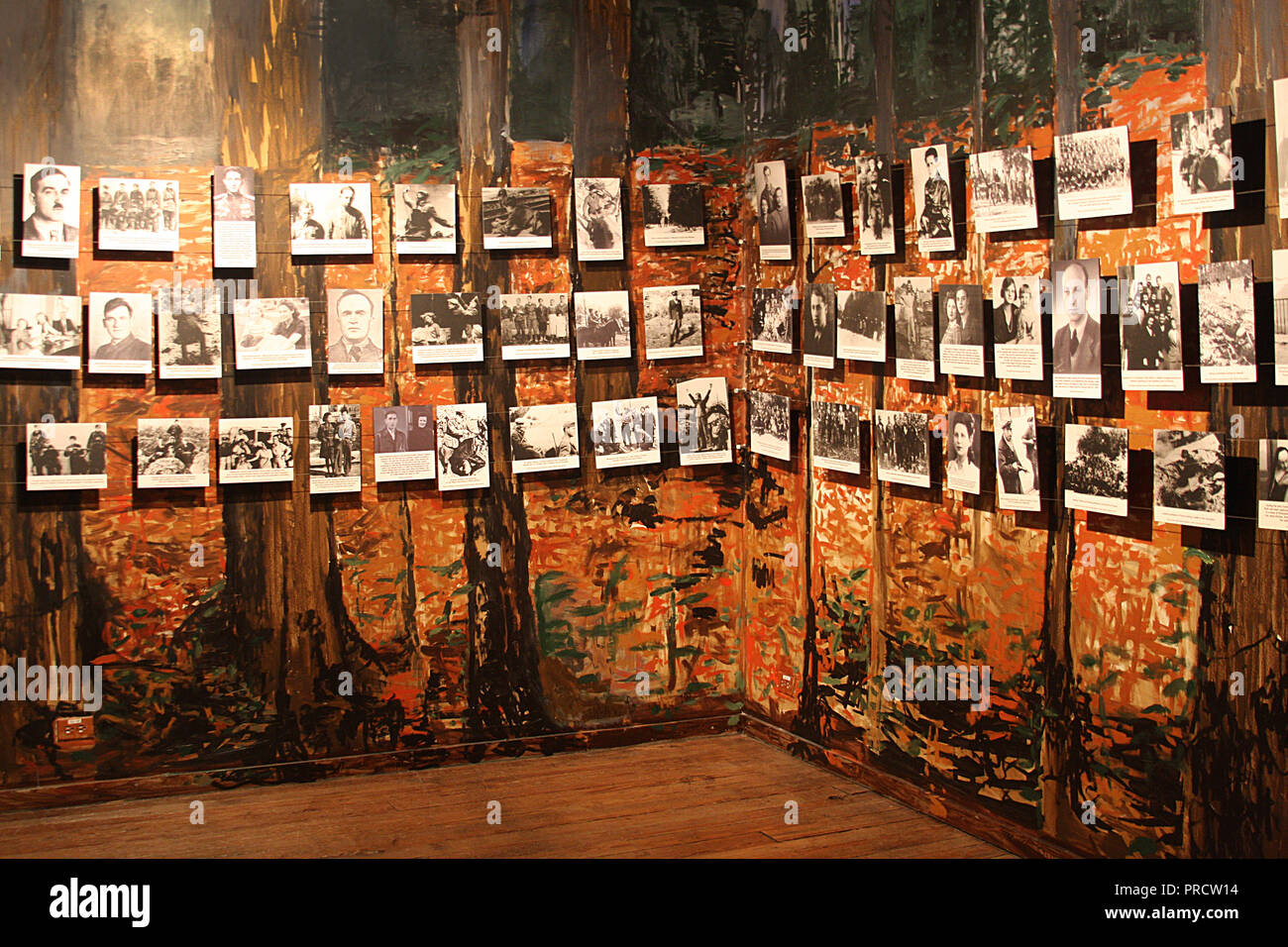 Historical photographs of Jewish people displayed at Virginia Holocaust Museum in Richmond, VA - Stock Image