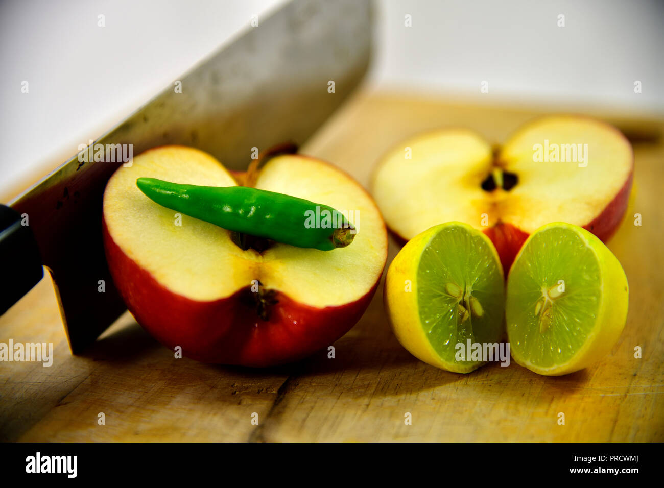 Healthy Salad Diet Food Props Decoration Apple Red Chilli With