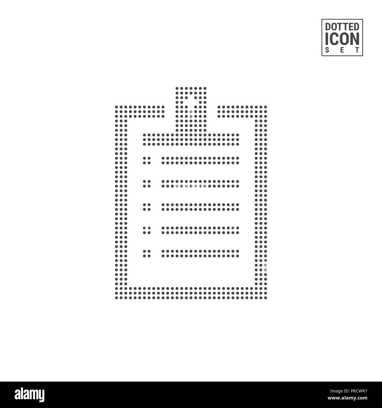 to do list dot pattern icon clipboard dotted icon isolated on white
