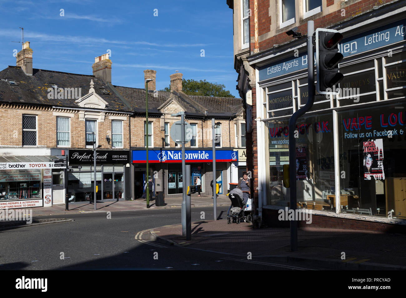 Nationwide Building Society is a British mutual financial institution and the largest building society,paignton Devon,high street, mutual, - Stock Image