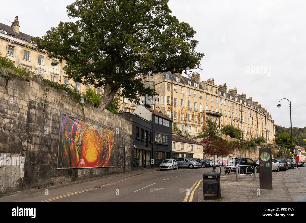 Walcot Street -The Artisan Quarter, Bath, England - Stock Image