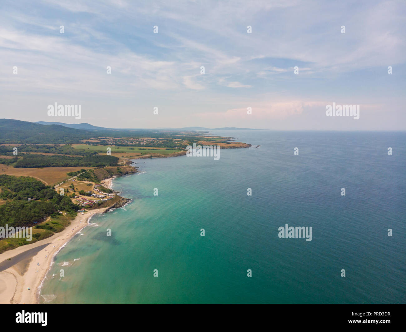 Aerial view of Delphin resort, Bulgaria. - Stock Image