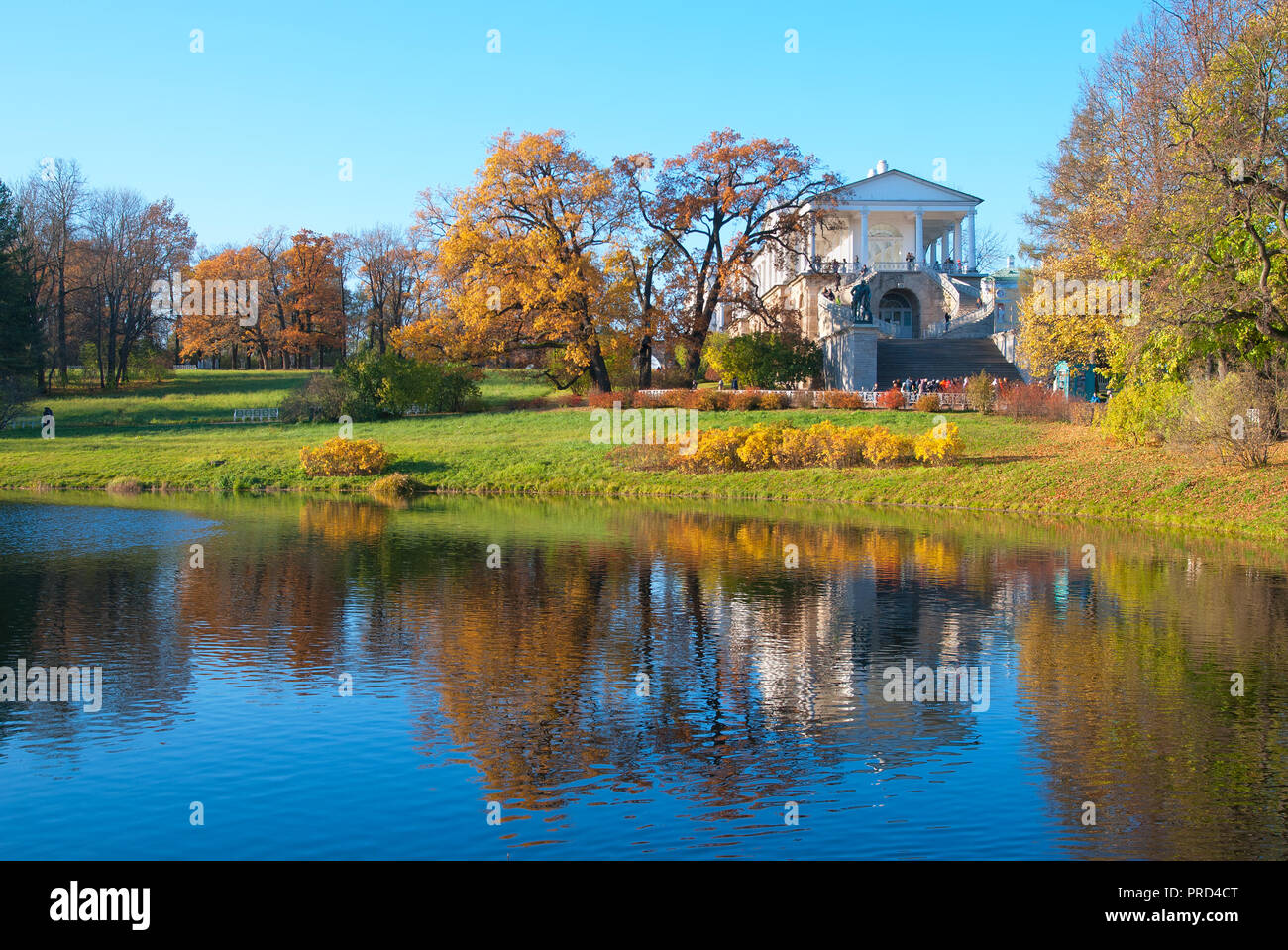 TSARSKOYE SELO, SAINT - PETERSBURG, RUSSIA â?? OCTOBER 19, 2016: The Cameron Gallery Ensemble (the Cameron Thermae) in The Catherine Park. Stock Photo
