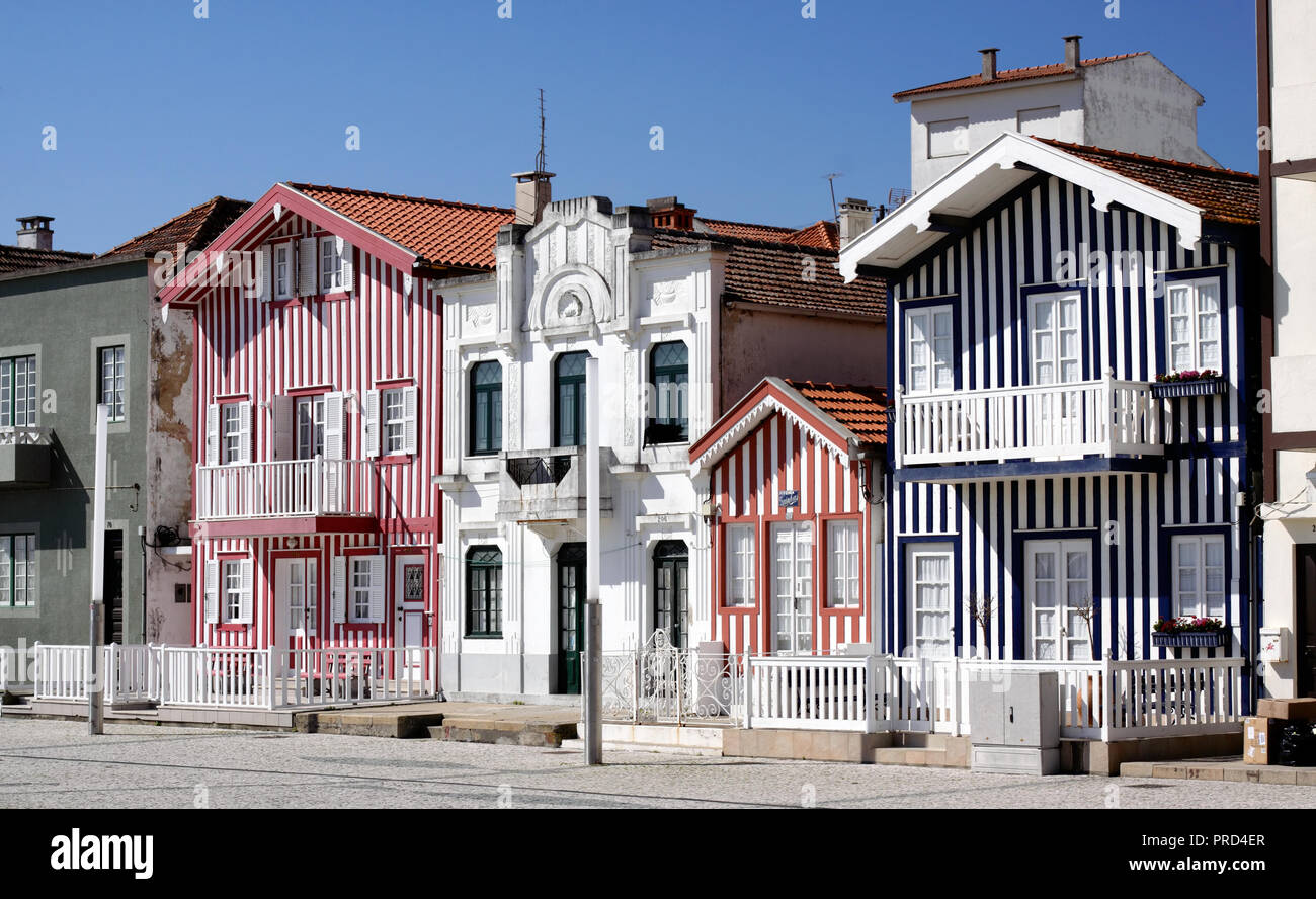 Typical houses of Aveiro, Portugal (collection - sea others in my portfolio) - Stock Image