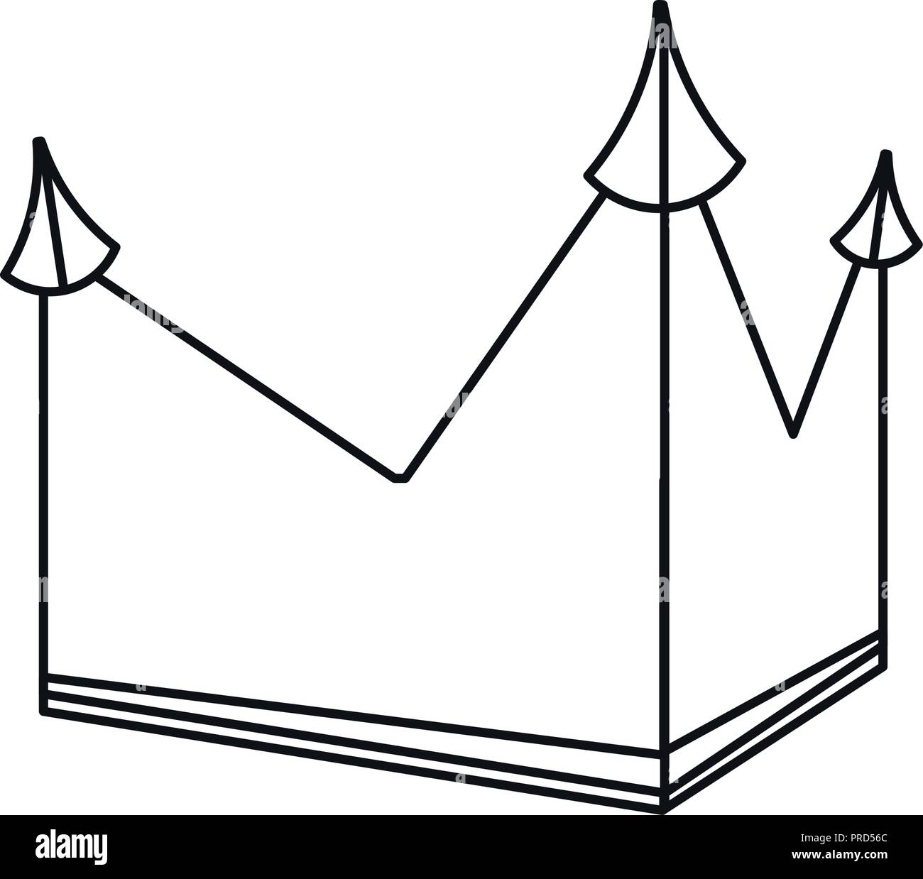 crown royalty monarchy outline geometric vector illustration - Stock Vector