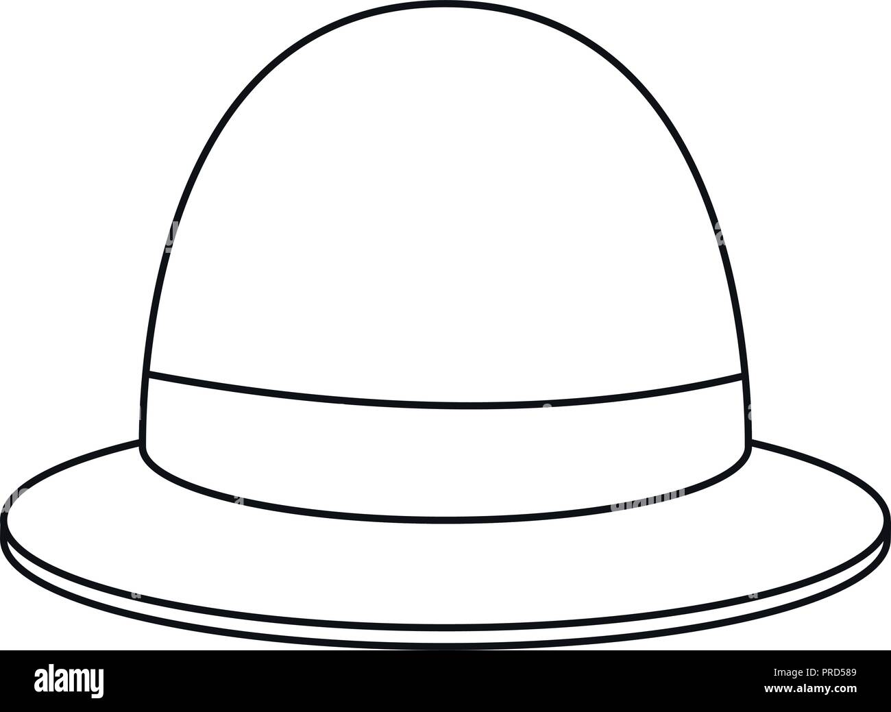 b60a8ad666747 Cartoon Old Bowler Hat Stock Photos   Cartoon Old Bowler Hat Stock ...