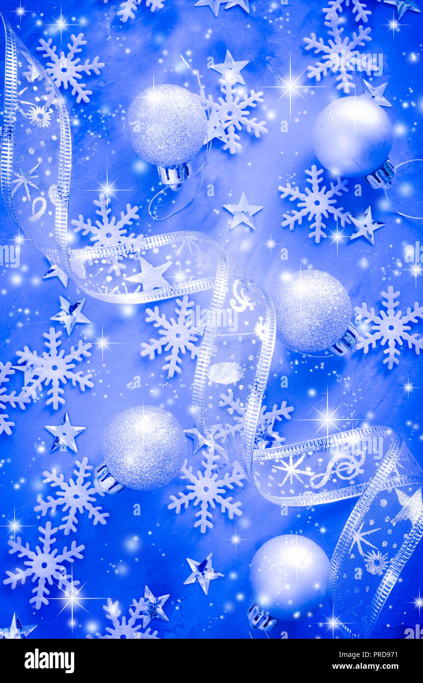 blue christmas background christmas postcard with snow