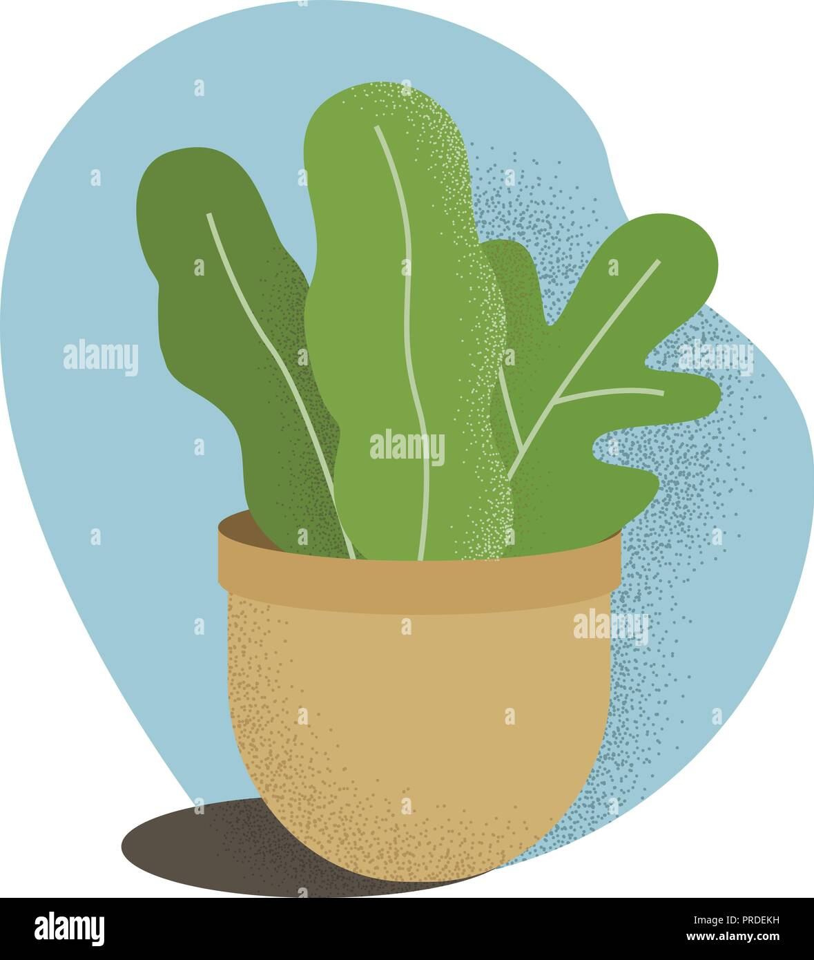Vector flat house plant pot illustration. Colorful house plant in pot for your design. Stock Vector