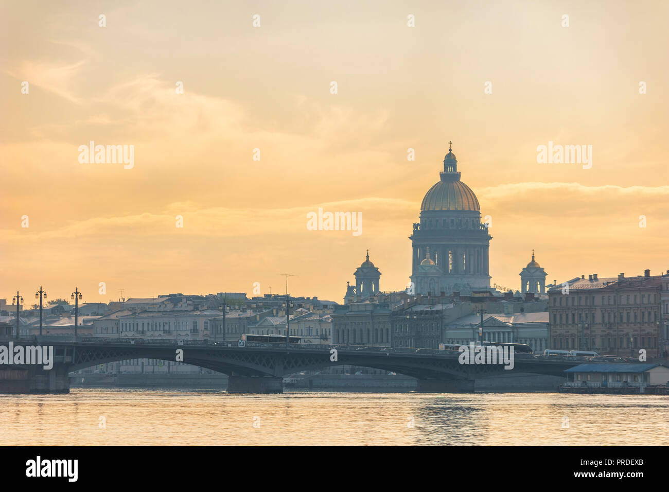 Saint Petersburg Russia, city skyline at Saint Isaac Cathedral - Stock Image
