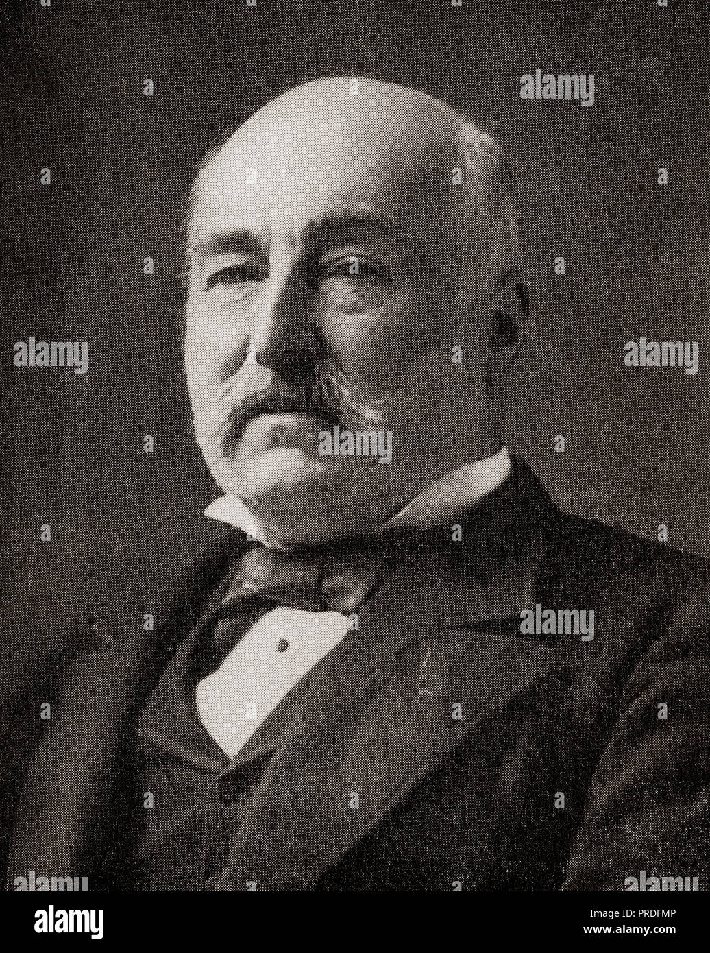 Sir Charles Mark Palmer, 1st Baronet, 1822 –1907.  English shipbuilder, Liberal Party politician and Member of Parliament.  From The Business Encyclopedia and Legal Adviser, published 1920. - Stock Image