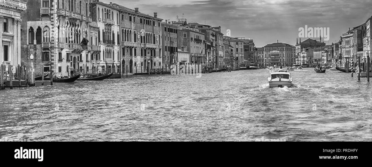 Scenic architecture along the Grand Canal in San Marco district of Venice, Italy - Stock Image