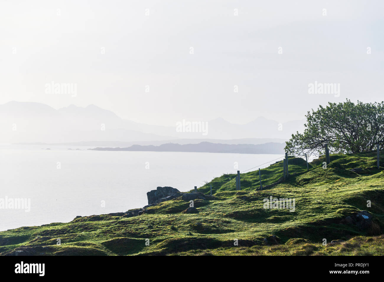 landscapes of the Isle of Skye, Scotland - Stock Image