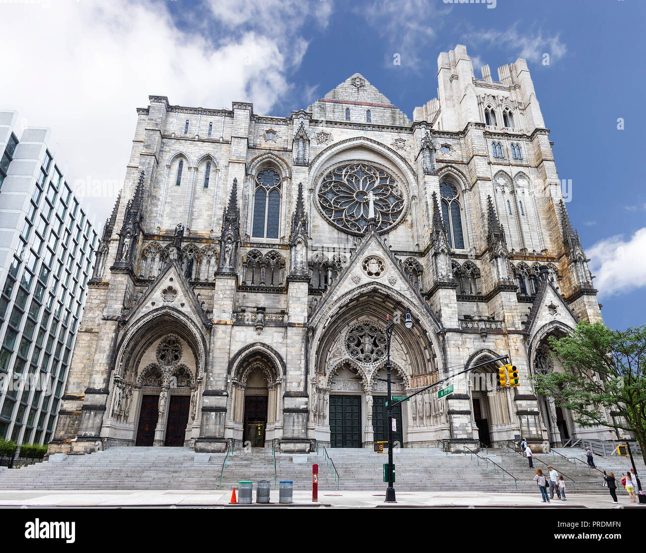 The Cathedral of St. John the Divine, officially the Cathedral Church of Saint John: The Great Divine in the City and Diocese of New York, is the cath - Stock Image