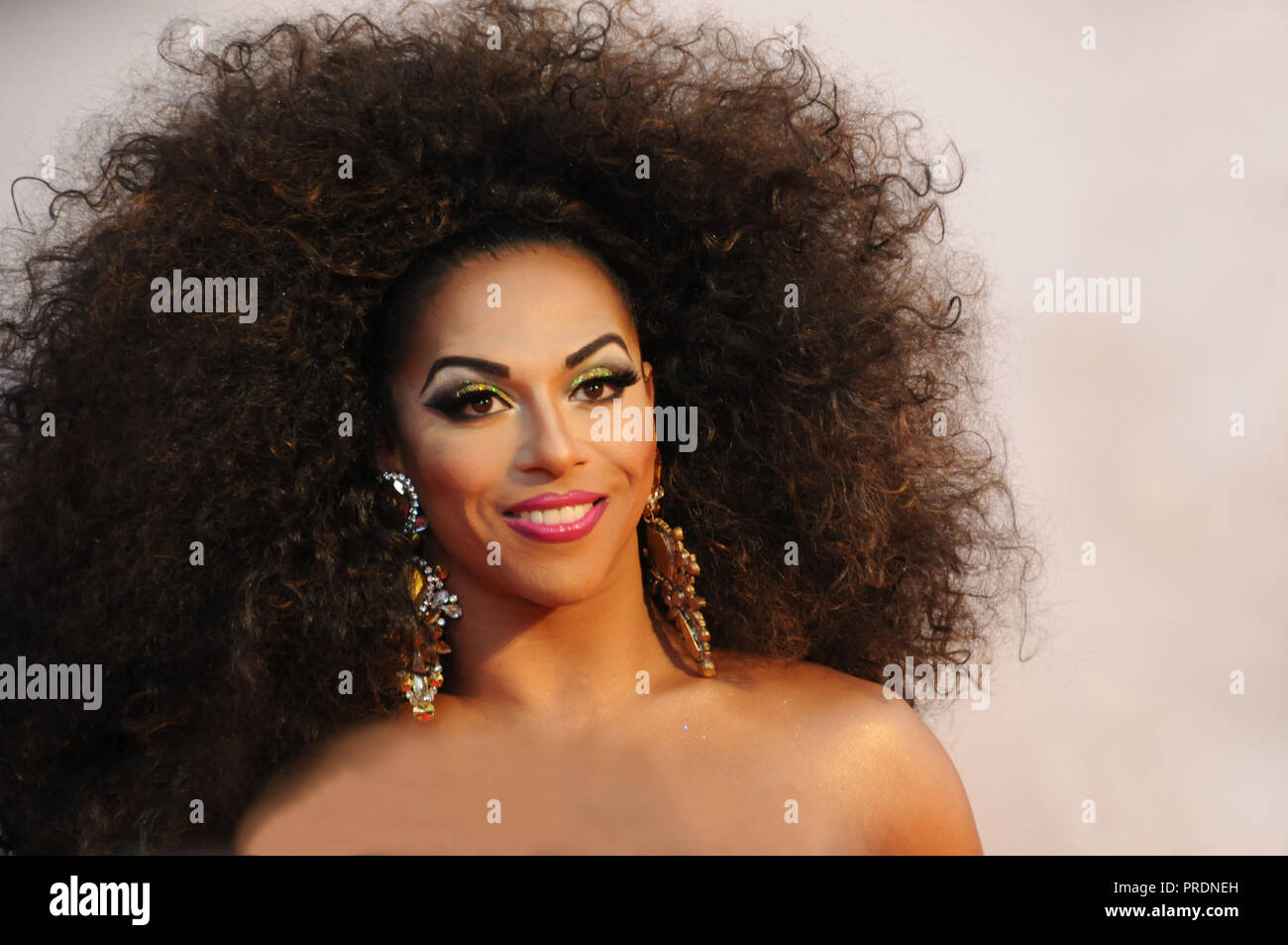 American Gay Drag Queen Shangela On The Red Carpet Of The London